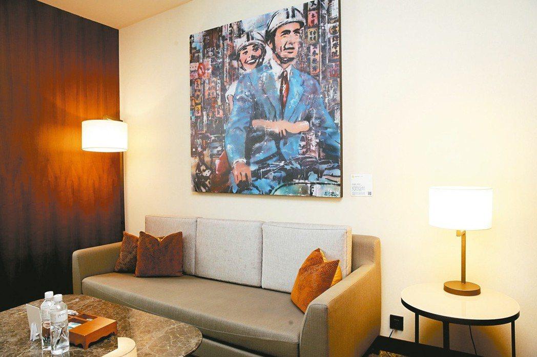 六福萬怡酒店拚創造差異化,將酒店融入藝術,展出台灣在地風土民情、自然環保的手作商...