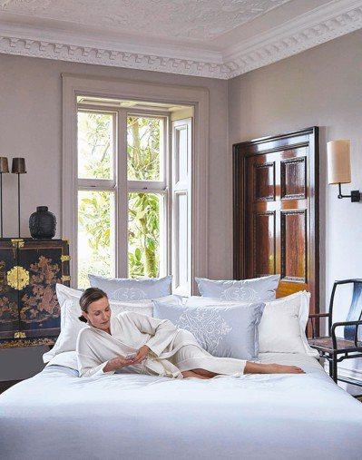 義大利頂級寢飾本季新作也搭上了莫蘭迪色順風車。 FRETTE/提供
