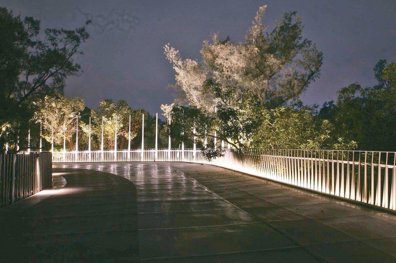 台中花博「后里花馬道」當中的空中步道橋。 台中市政府/提供