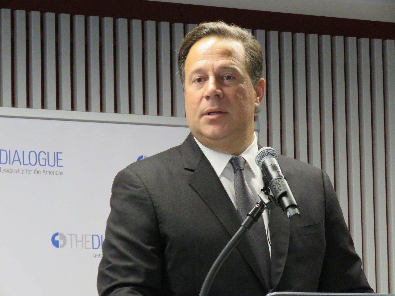 巴拿馬總統瓦雷拉(Juan Carlos Varela)。聯合報系資料照