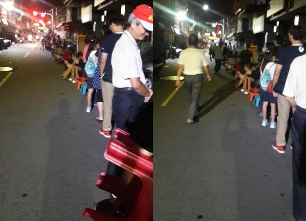 網友PO出凌晨四點的不二家排隊照。圖擷自 爆廢公社
