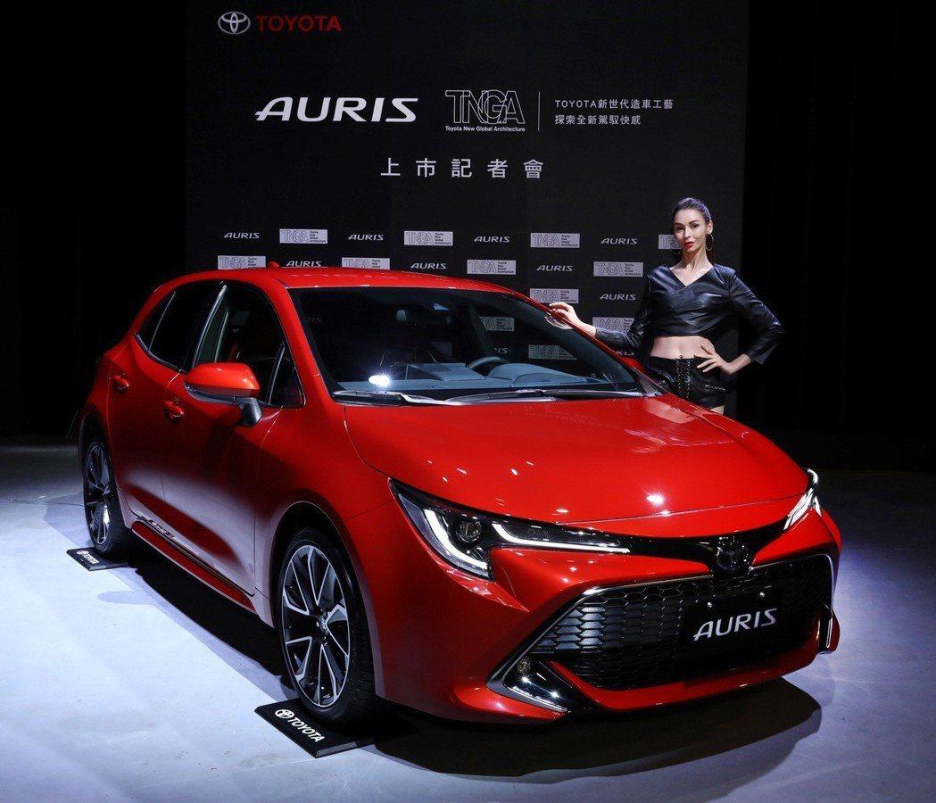 TOYOTA總代理和泰汽車發表日本原裝掀背車TOYOTA AURIS,並祭出83.9萬起的售價,正面迎戰進口掀背銷售霸主Mazda3的地位。 圖/和泰汽車提供