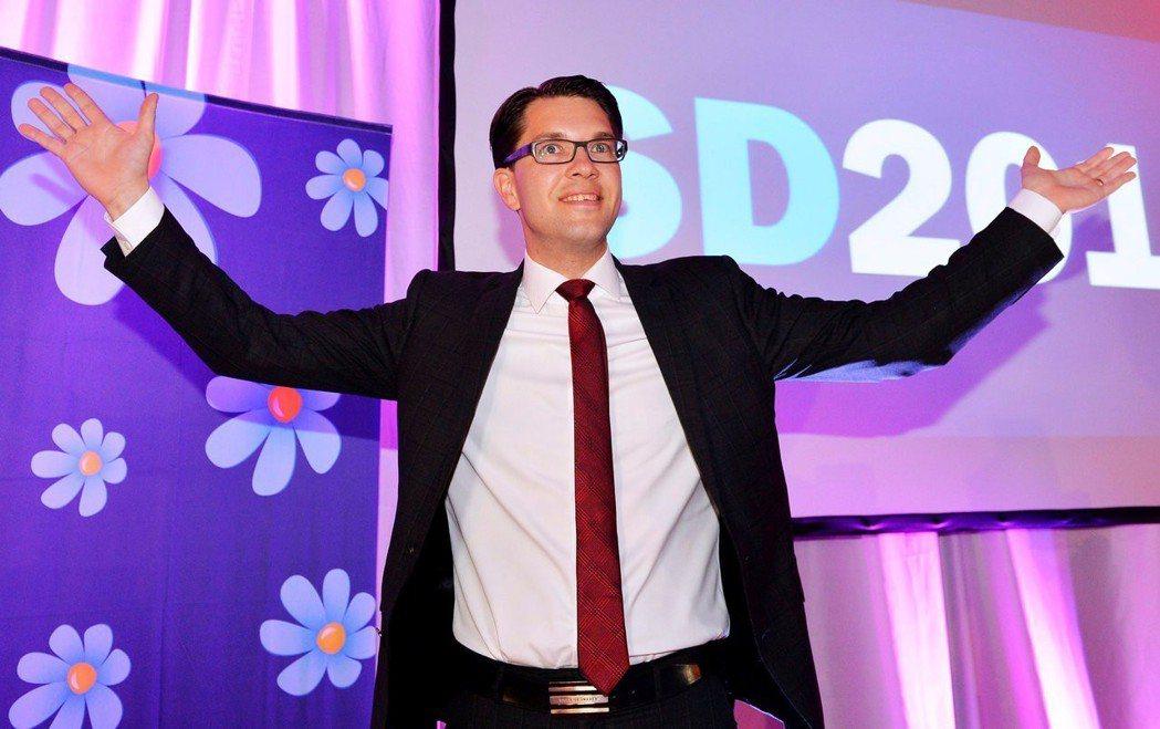 瑞典民主黨的靈魂人物吉米.奧克松(Jimmie Åkesson),反對歐盟、反對...