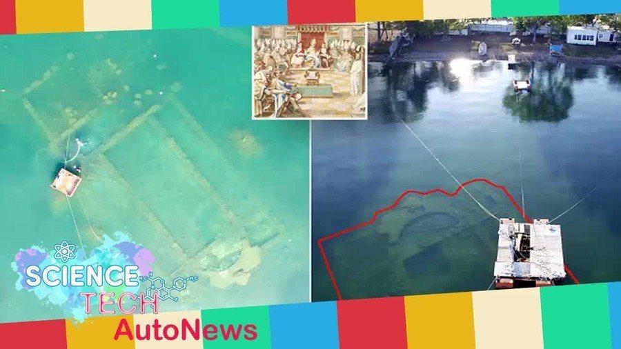 這座千年教會遺址距離岸邊約50公尺,未來將興建成海底博物館。 台灣醒報(擷自Yo...