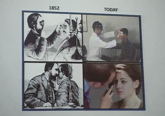 圖1:檢查眼睛的方法經歷了近兩百年,本質上仍一成不變 (資料來源:「2018台以...