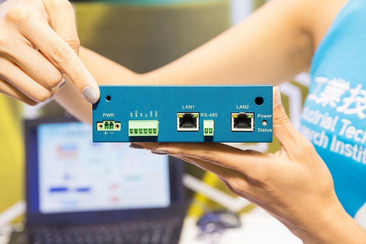 由工研院研發的智慧機上盒可針對不具有控制器的設備,提供一個體積輕巧、易裝附於機台...