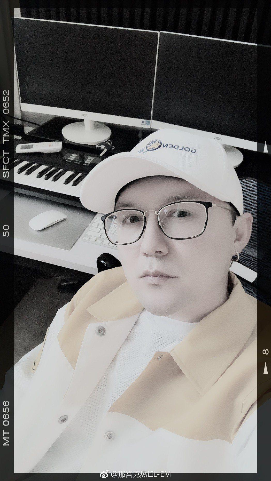 那吾克熱是「中國新說唱」的4強選手。圖/摘自微博