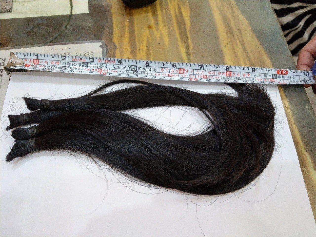 新竹市三民國小5年級學生彭一倢出生以來只剪了二次頭髮,二次剪下來的髮束都捐給癌症...