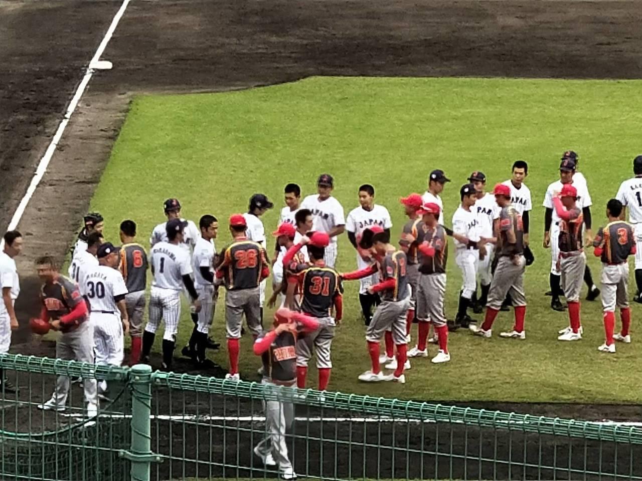 U18亞青賽季軍戰,日本隊以14:1擊敗大陸隊。特派記者婁靖平/日本宮崎攝影
