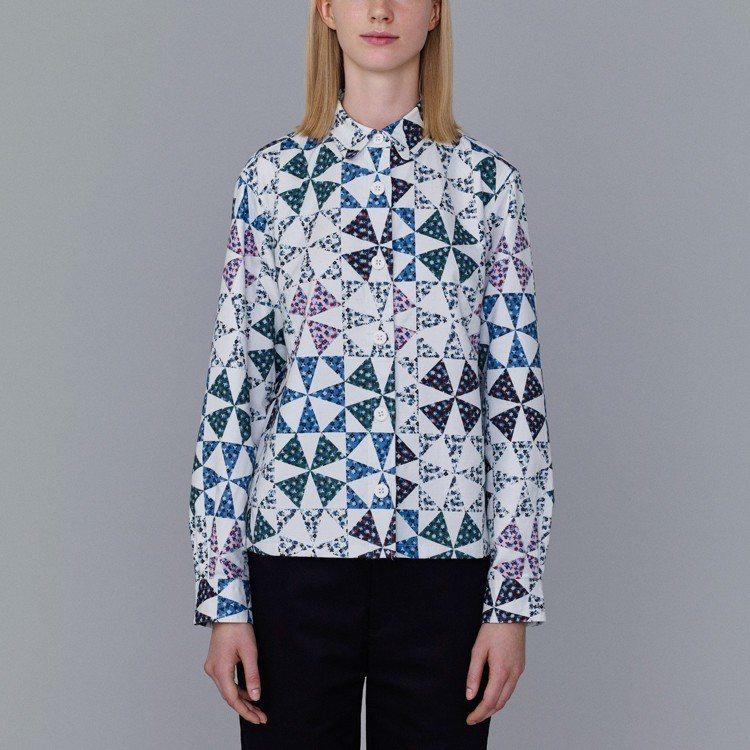 Kim Jones和GU最終合作系列花朵印花襯衫,1,490元。圖/GU提供