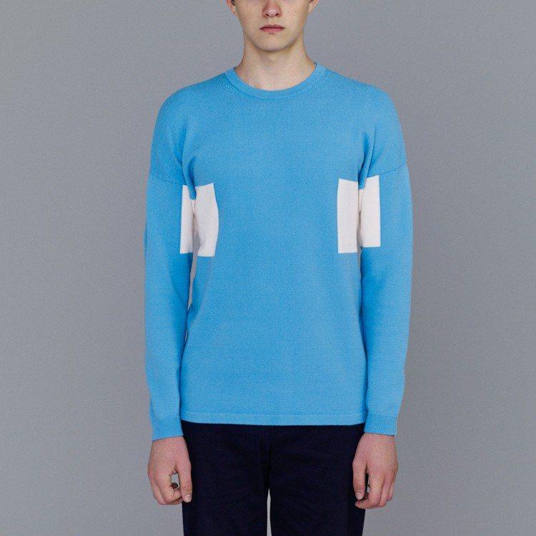 Kim Jones和GU最終合作系列色塊針織衫,1,490元。圖/GU提供