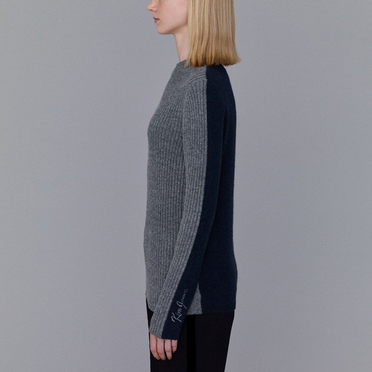 Kim Jones和GU最終合作系列撞色針織衫。圖/GU提供