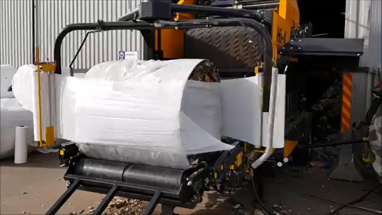 南投縣將啟用垃圾包膜,讓垃圾的異味不會外逸。圖/南投縣環保局提供