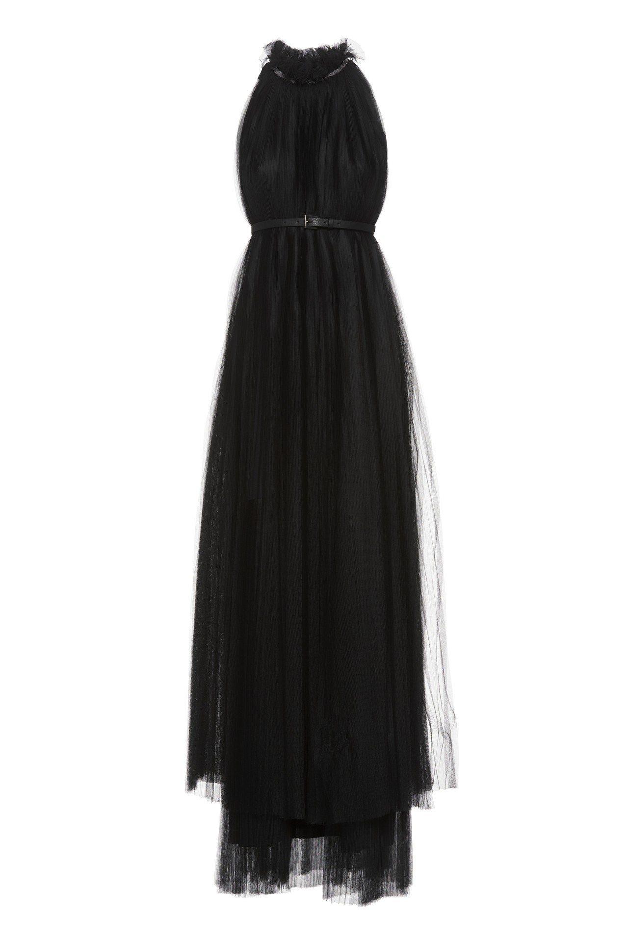 Fabiana Filippi秋冬系列黑色褶襉連衣裙附腰帶,約52,200元。圖...