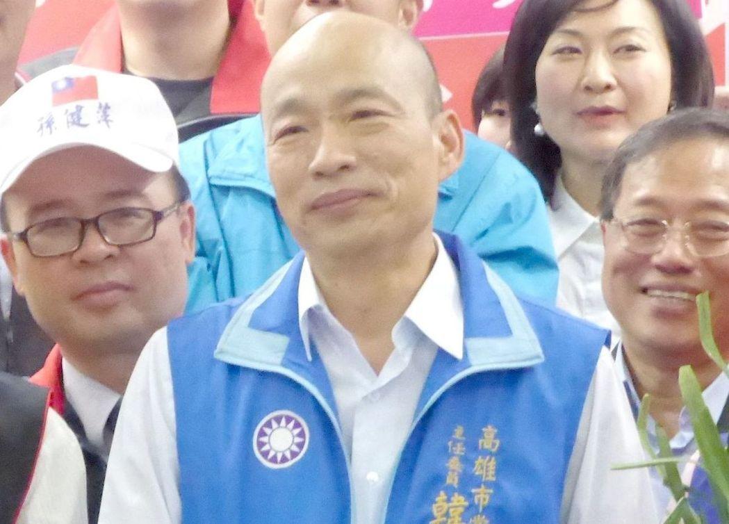 國民黨高雄市長參選人韓國瑜今天表示,當選市長以後,他將在高雄市全力發展電競運動的...