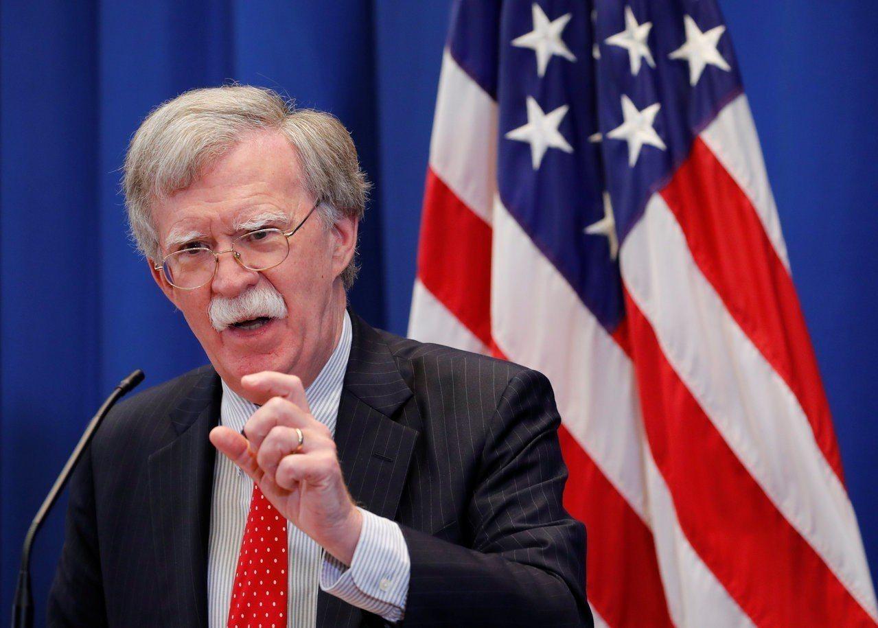 美國國家安全顧問波頓。路透