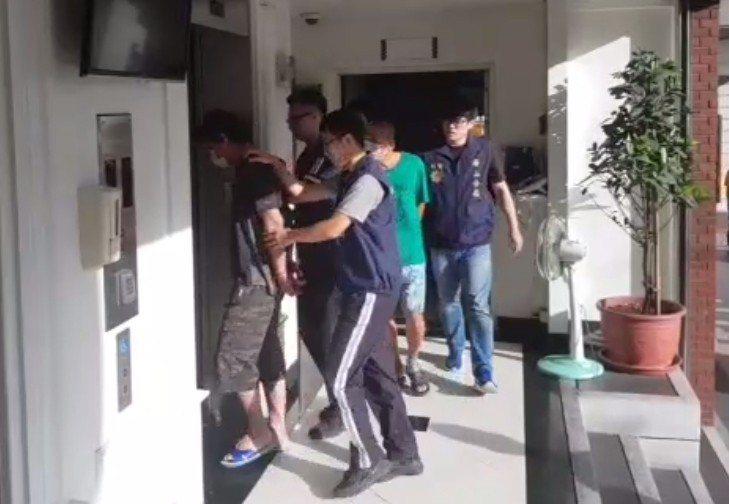 警方今天逮捕3名嫌犯,尚有1人在逃。記者林昭彰/翻攝