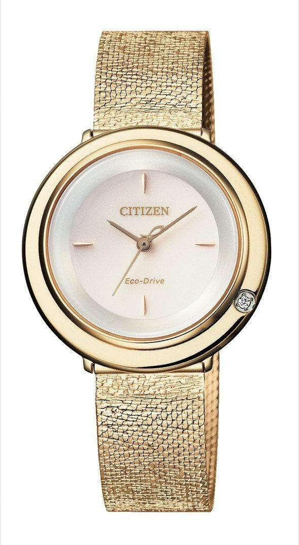 Citizen Citizen L系列EG9000-01A腕表,不鏽鋼表殼鍍玫瑰...