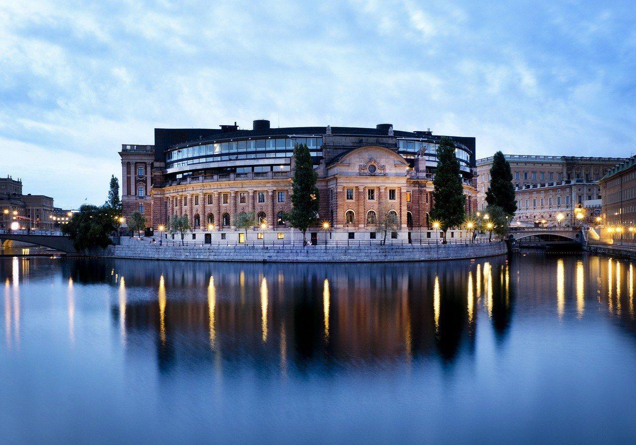 瑞典國會大廈。美聯社
