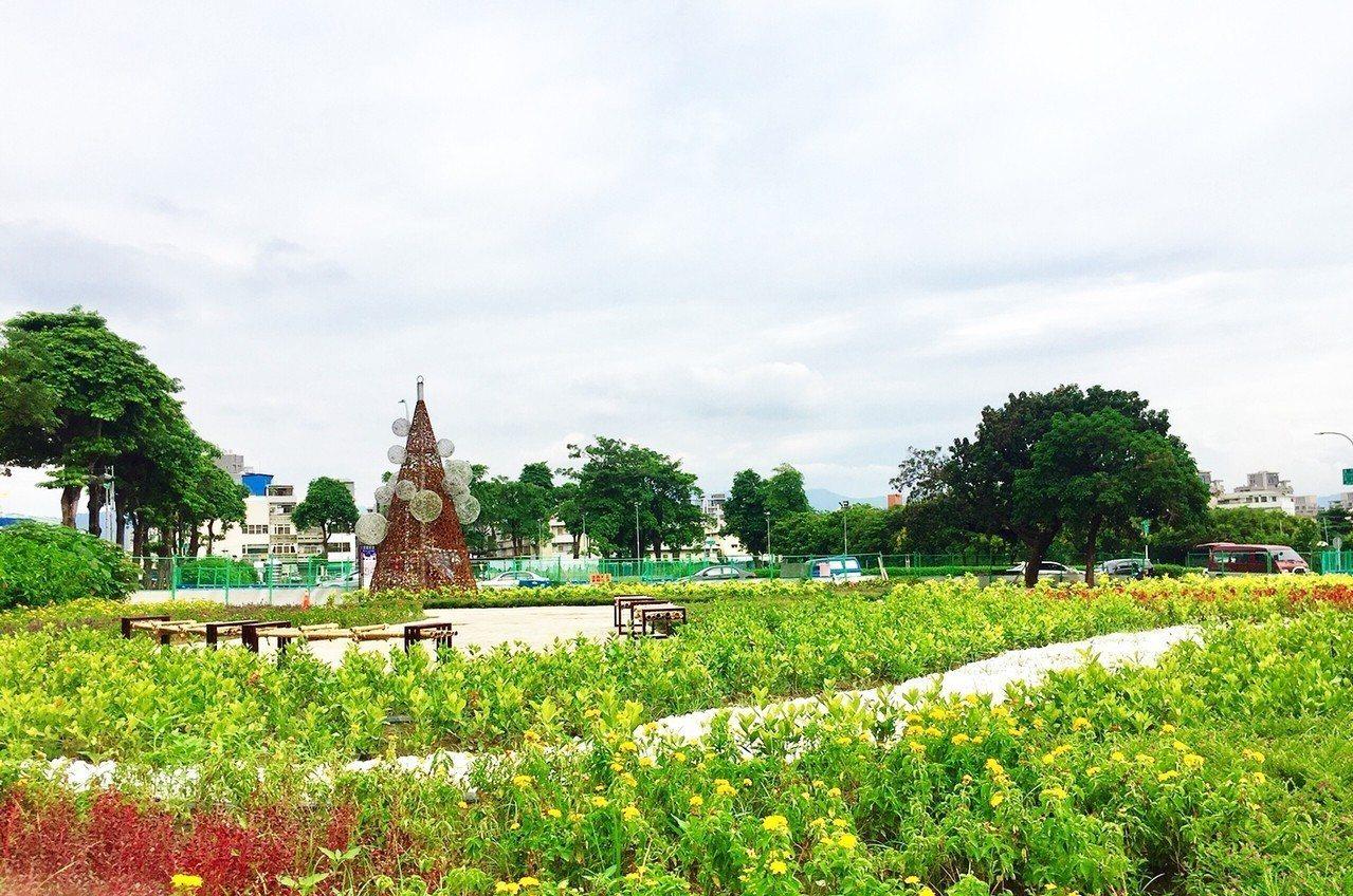台中市烏日區自治公園小花海。 圖/台中市政府提供