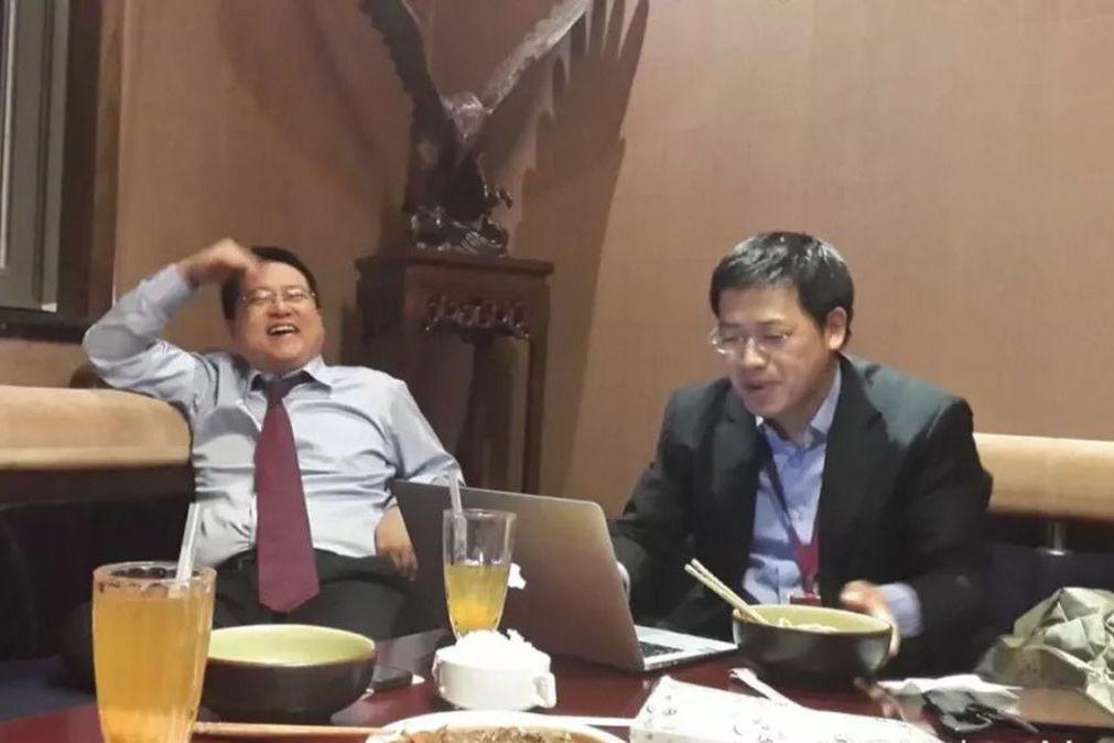 網秦創辦人林宇(左)指控前董事長史文勇(右)主使綁架案。(取材自鳳凰網╱受訪者供...