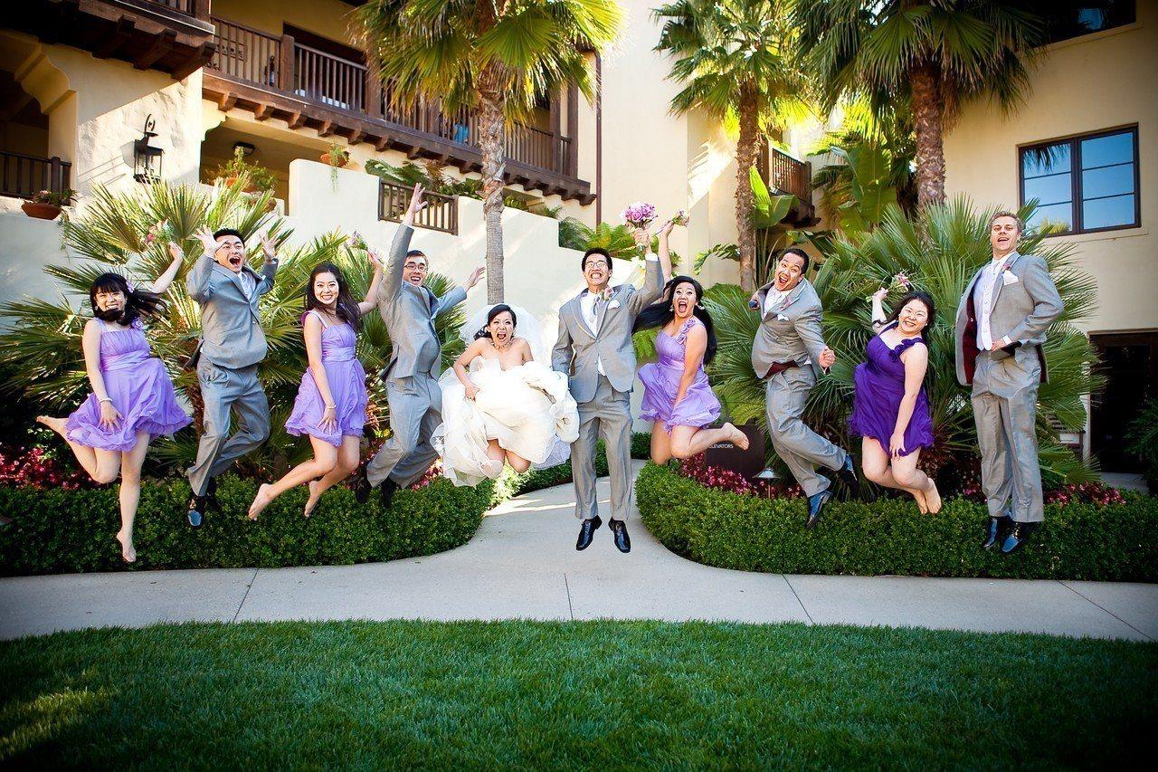 美式婚禮都會選用一個主色調。 圖/時報文化出版提供