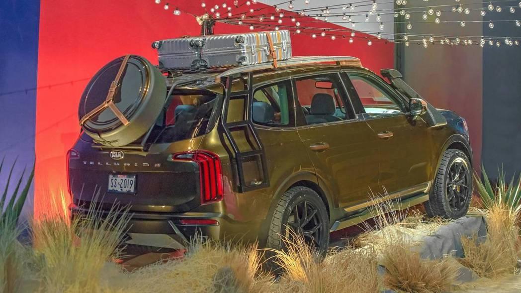 越野氣息滿點的全新Kia Telluride。 摘自Kia