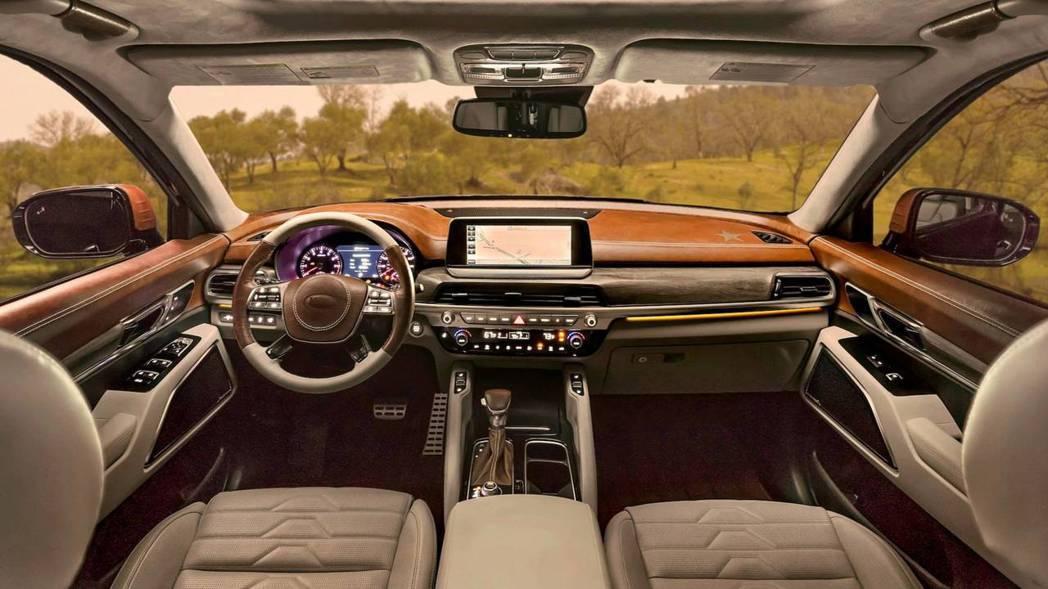 全新Kia Telluride 內裝,夠時尚嗎? 摘自Kia