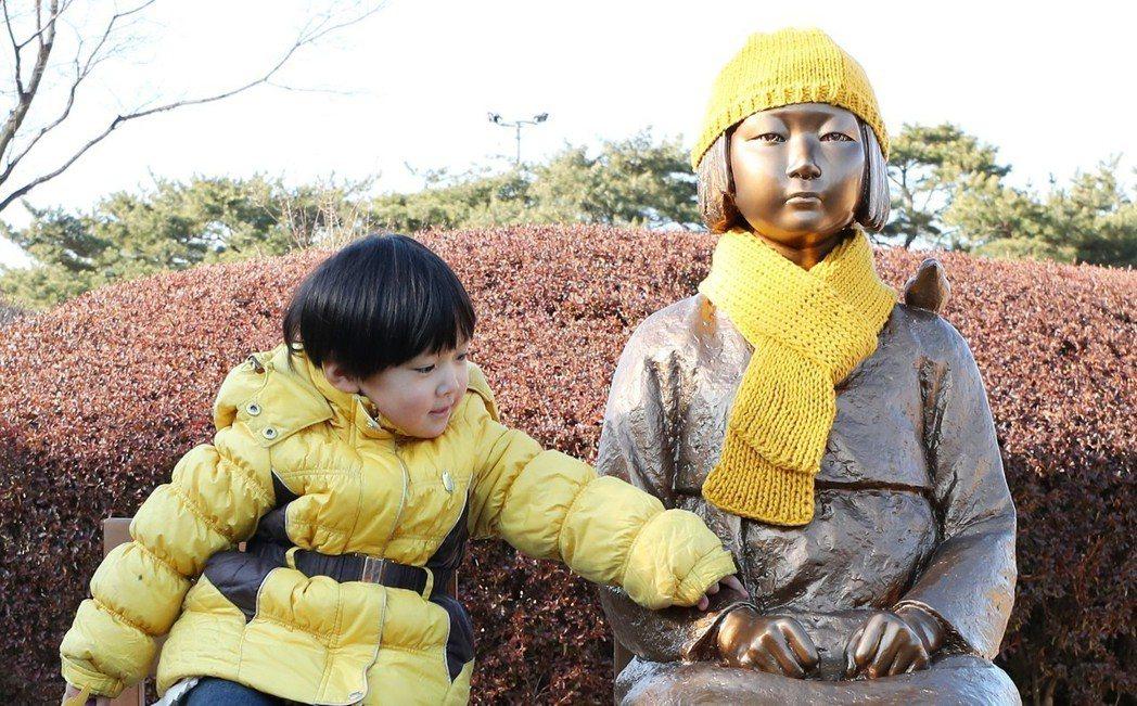 韓國境內有不少慰安婦銅像。 歐新社