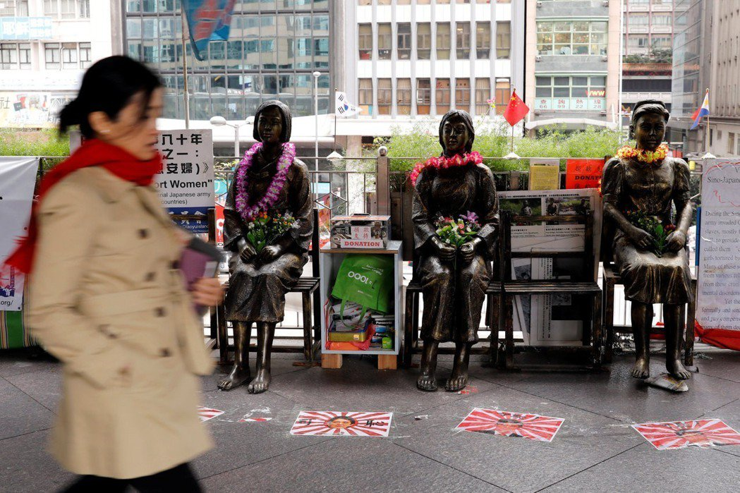 香港中環的慰安婦像。 路透