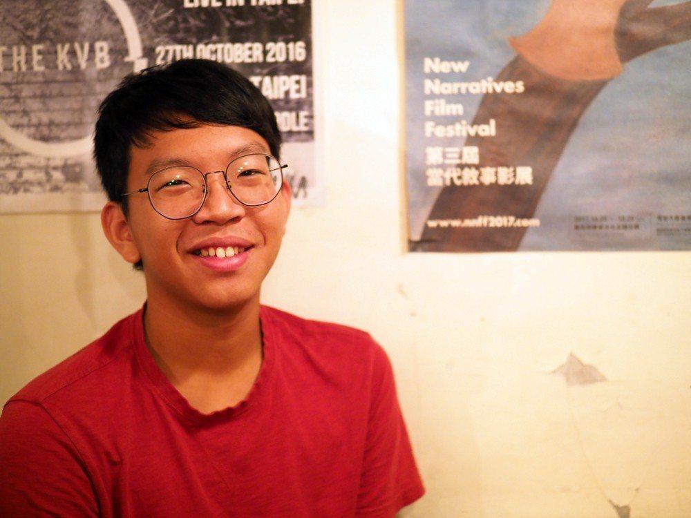 台大土木工程系、台大棒球隊二壘手王博洋,現也為《MyVoice》團隊一員。 攝影/許伯崧