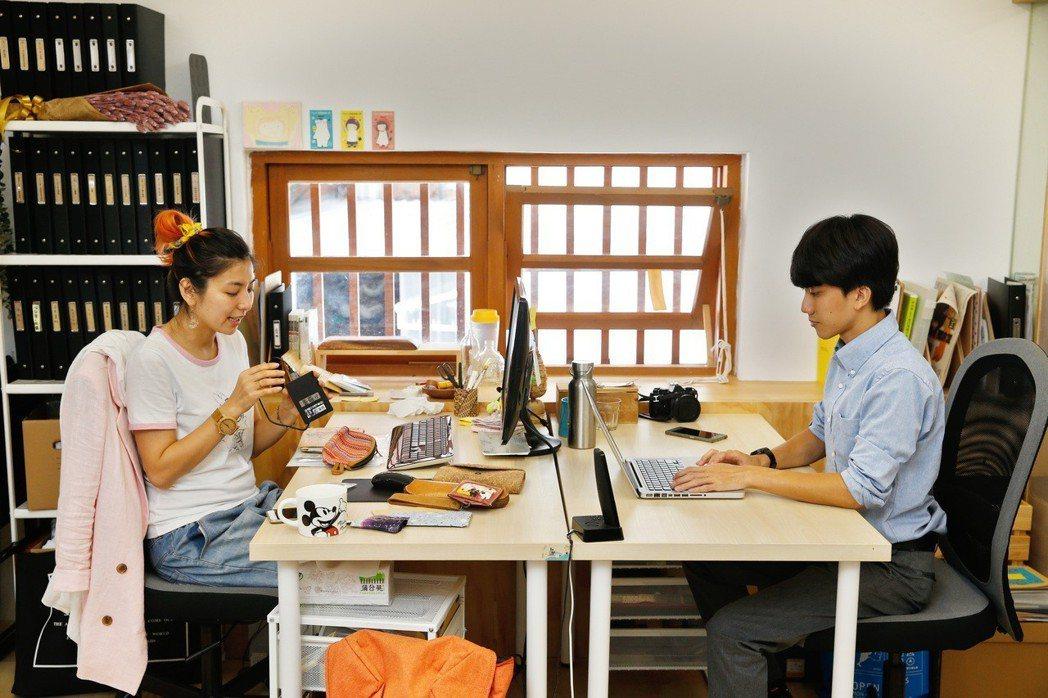 夢想騎士創辦人賴雷娜(左)及執行長楊仁銘(右)。 記者鄭超文/攝影