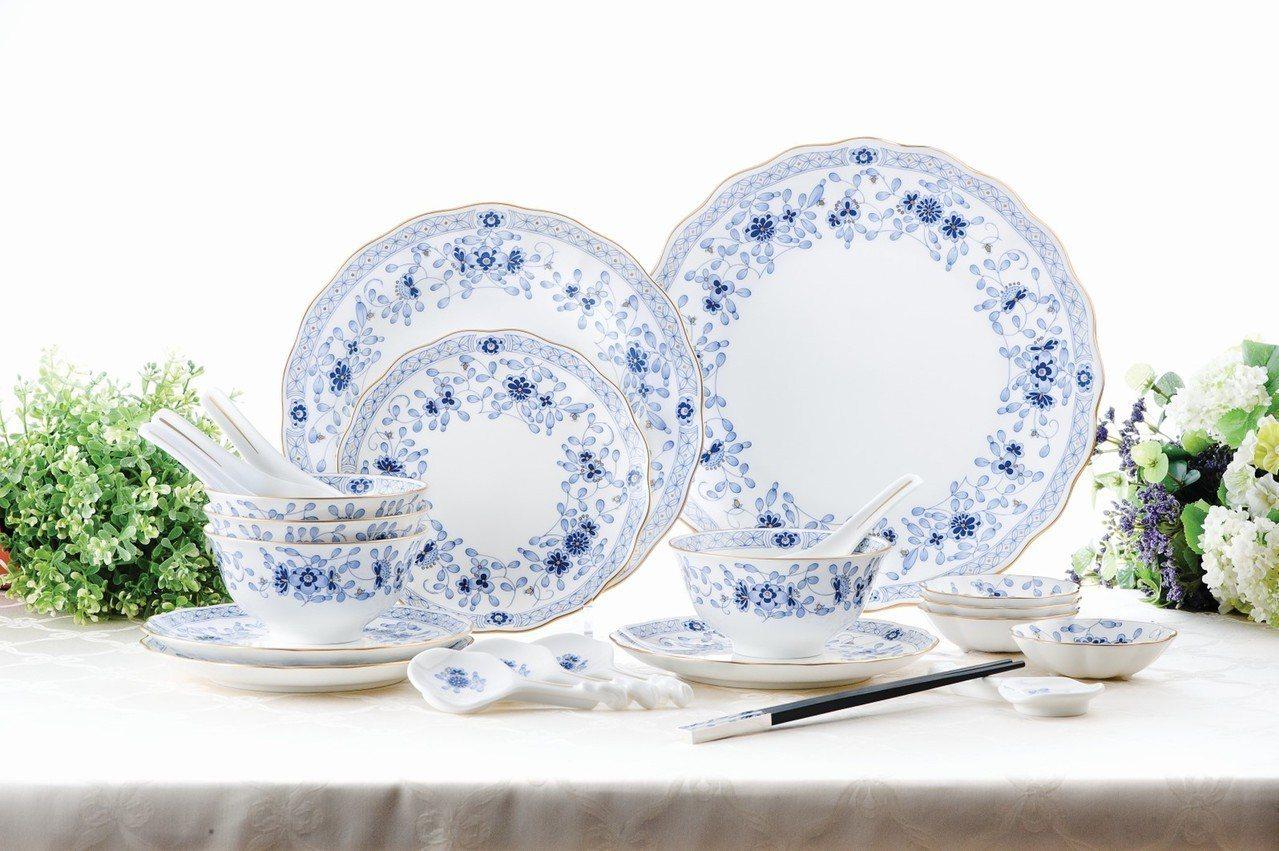 「Milano經典米蘭」4人份中式餐具20件組享78折、特價24,000元。圖/...