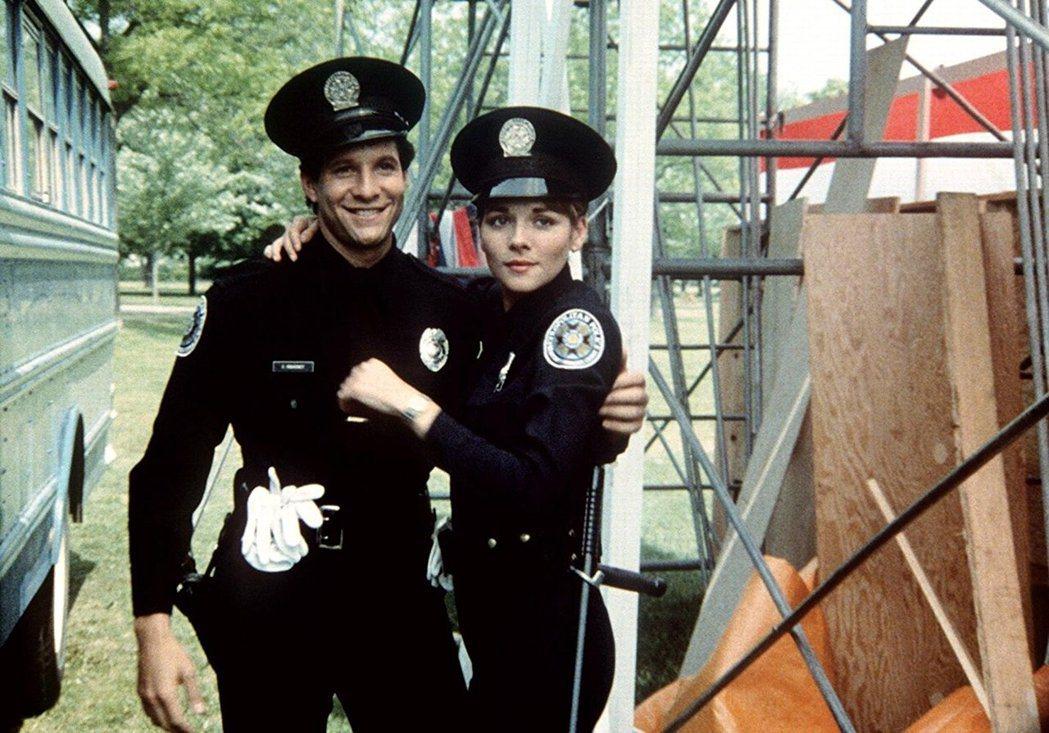 史提夫格坦柏格與金凱特蘿在「金牌警校軍」配對。圖/摘自imdb