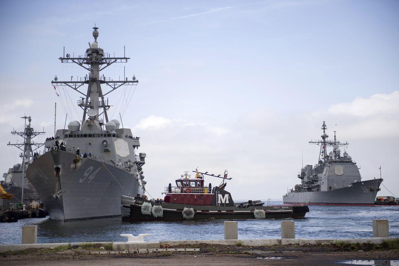 美海軍近30艘軍艦奉命撤離維吉尼亞,轉至其他大西洋港口,以免遭到颶風波及。美聯社