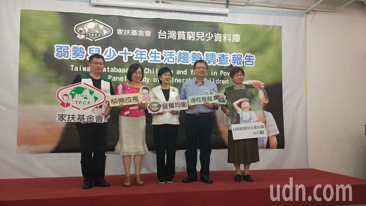 家扶基金會今天公布「台灣貧窮兒少資料庫」顯示,營養不均、情緒困擾及職涯迷惘是弱勢...