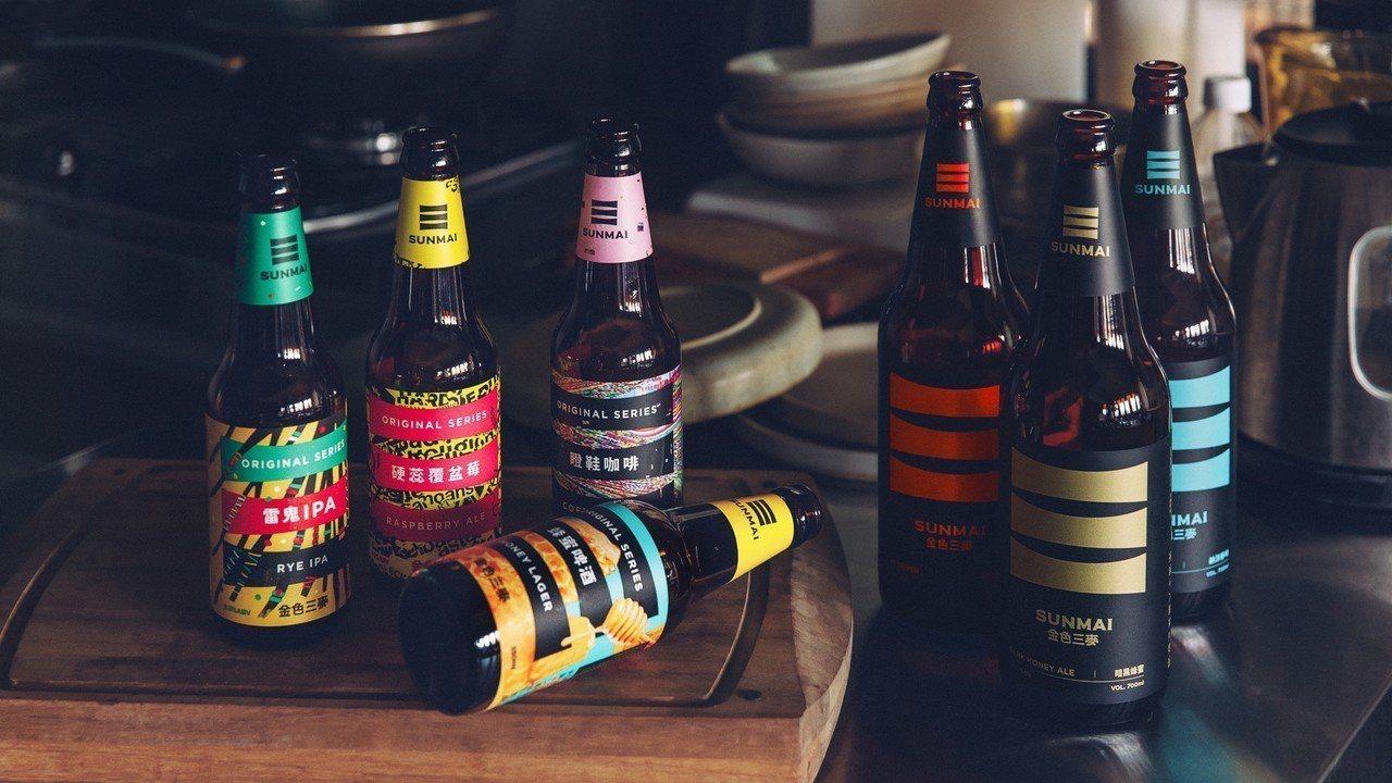 SUNMAI金色三麥推出7支全新精釀酒款。圖/金色三麥提供