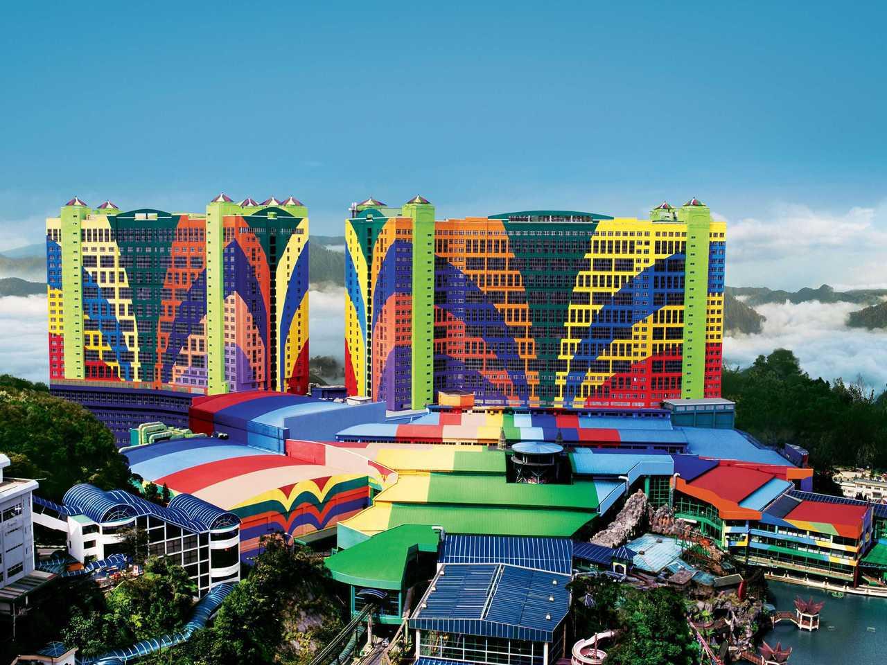 位於雲頂高原上的第一世界酒店擁有全球最多的客房數,每晚僅需672元起。圖片提供/...