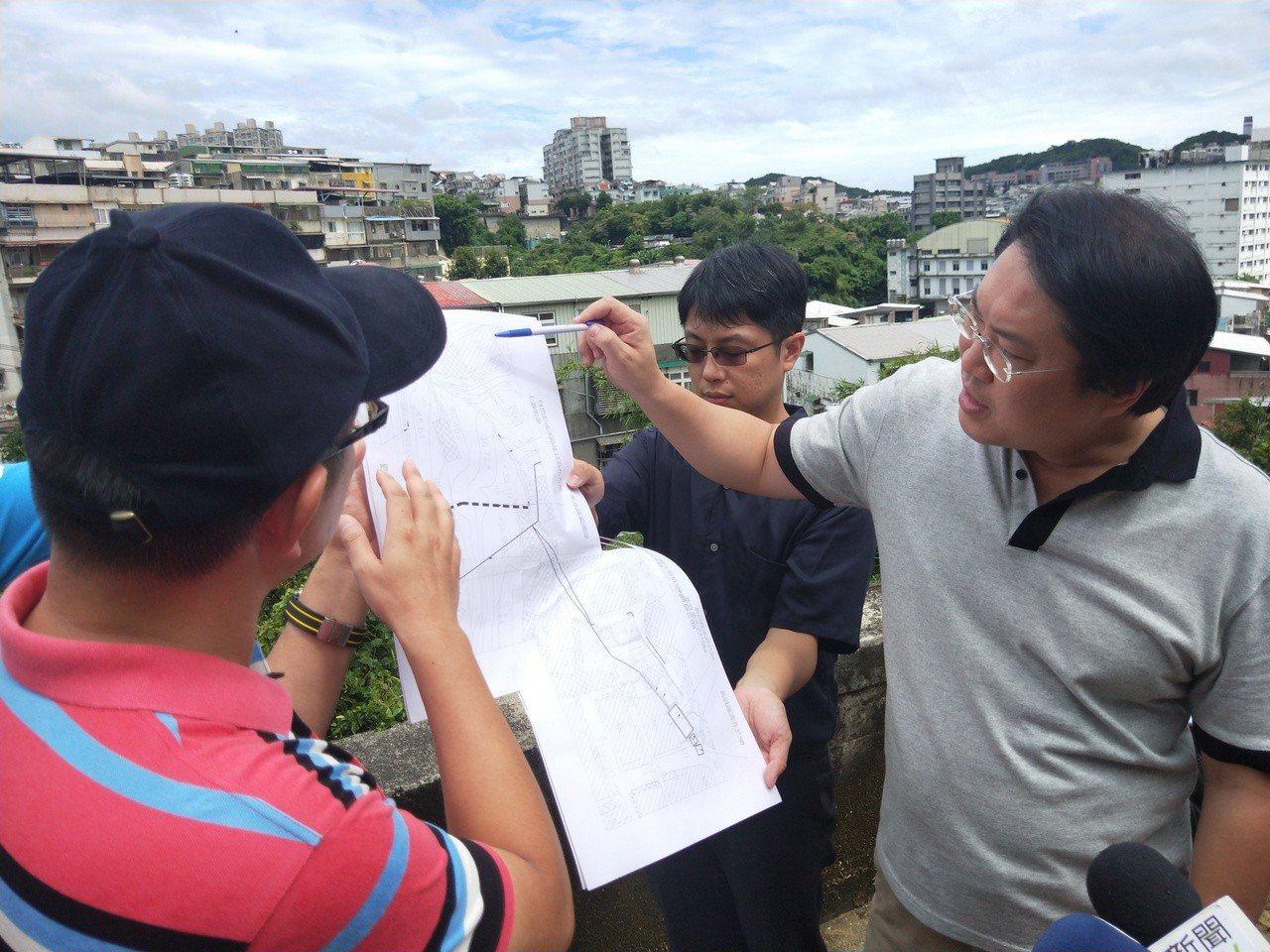 基隆市長林右昌今天說,救災時最好少一點政治口水。記者游明煌/攝影