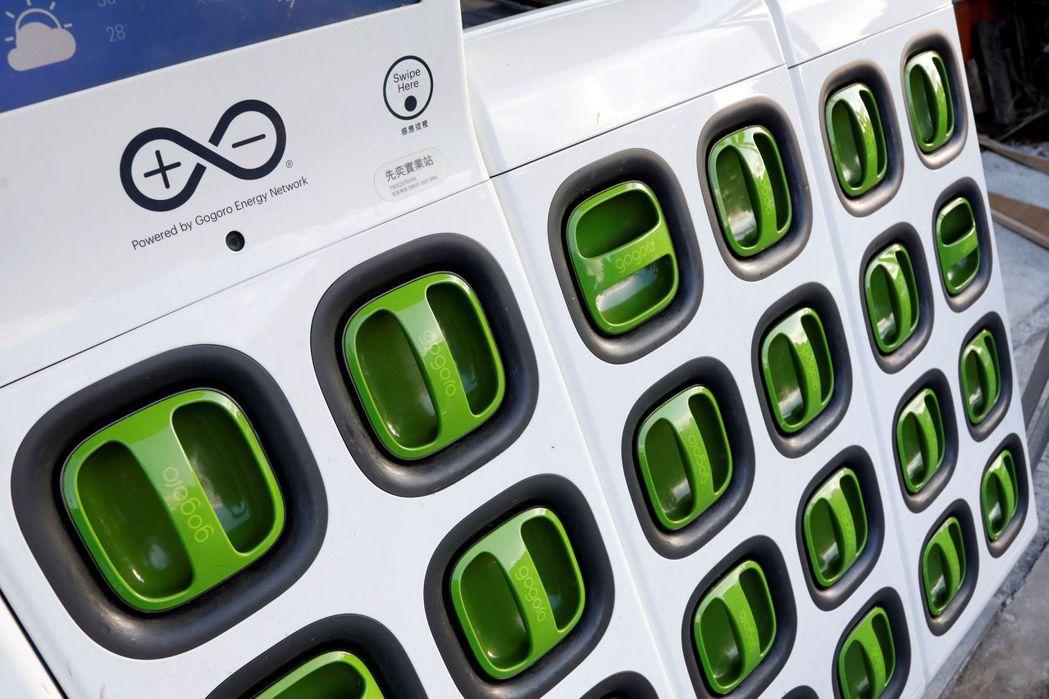 Gogoro成功將Yamaha納入共用的電池交換陣容。 路透