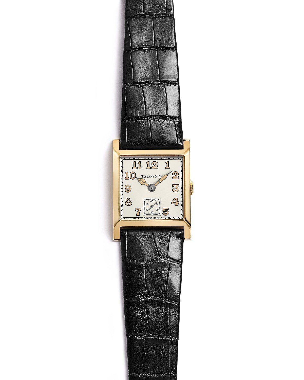 趙又廷佩戴的Tiffany Square 限量腕表,58萬5,000。圖/Tif...