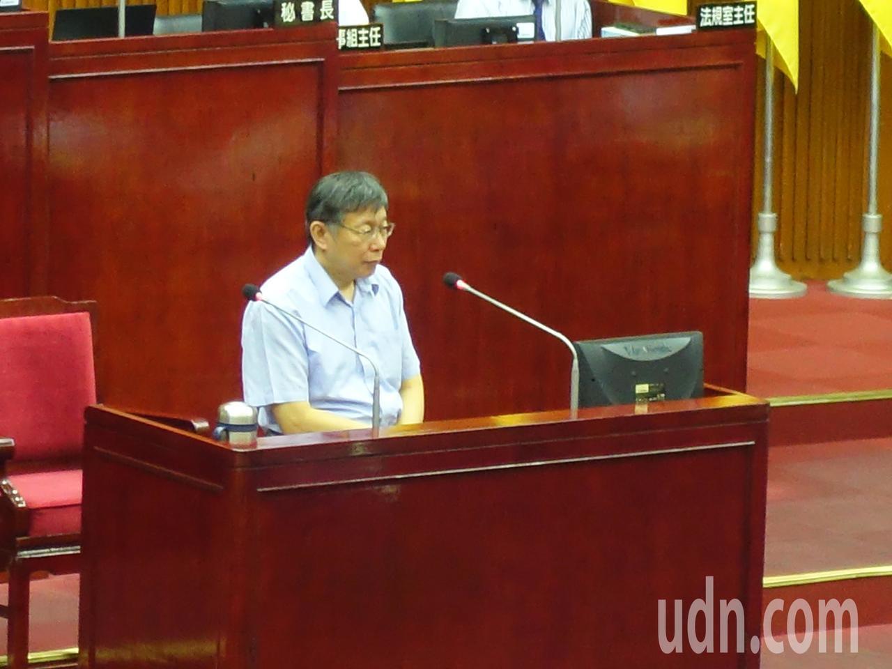台北市長柯文哲。聯合報系記者邱瓊玉/攝影