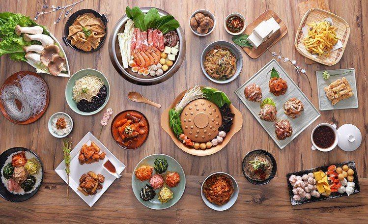 銅盤供應有韓食、銅盤烤肉、火鍋等複合式料理。圖/銅盤提供