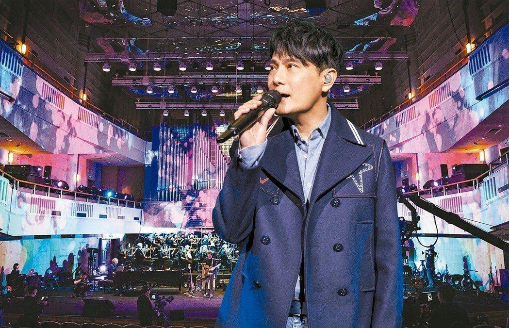 張信哲10月13日將北京凱迪拉克中心舉辦的「未來式」世界巡迴演唱會。 圖/潮水音
