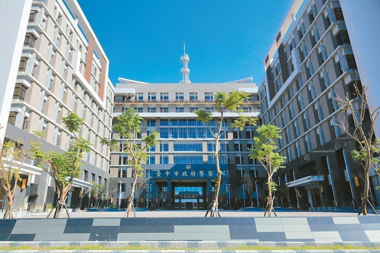 這棟嶄新大樓,日後由台中市警局進駐,只是完工許久卻未進駐,讓人好奇。 記者陳宏睿...