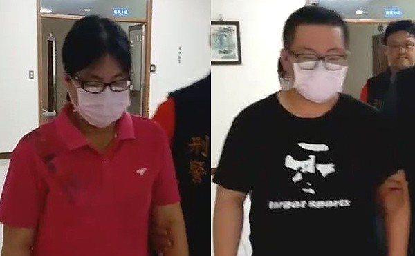 洪姓母親(左)及丁姓長子(右)裁定羈押禁見。 記者林伯驊/翻攝