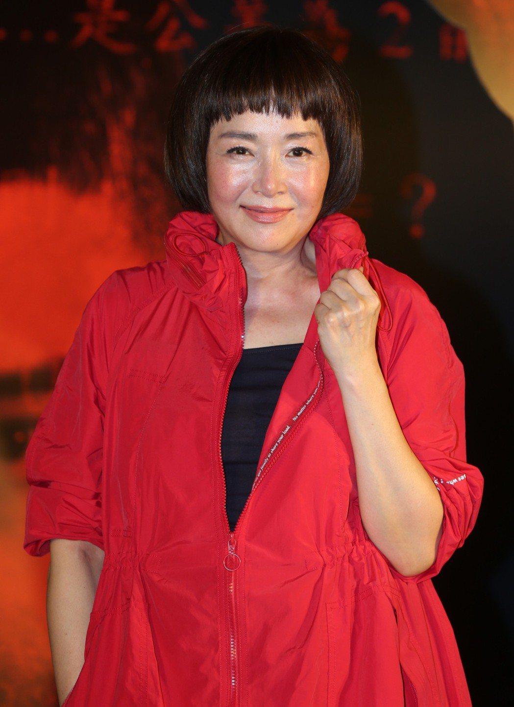 「藍色項圈」演員恬妞出席首映會。記者侯永全/攝影