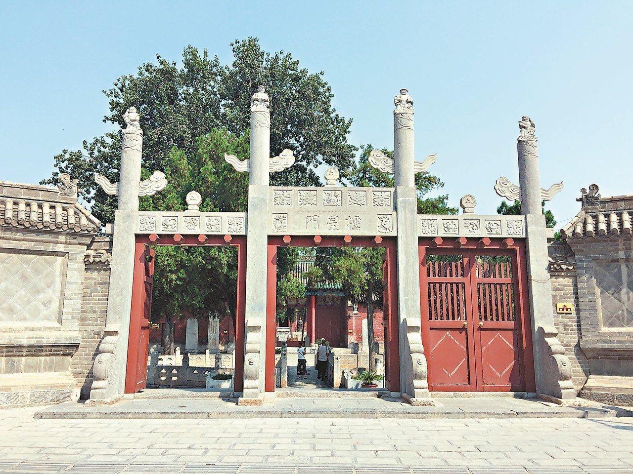 圖為浚縣古城內文廟。 記者汪莉絹/攝影