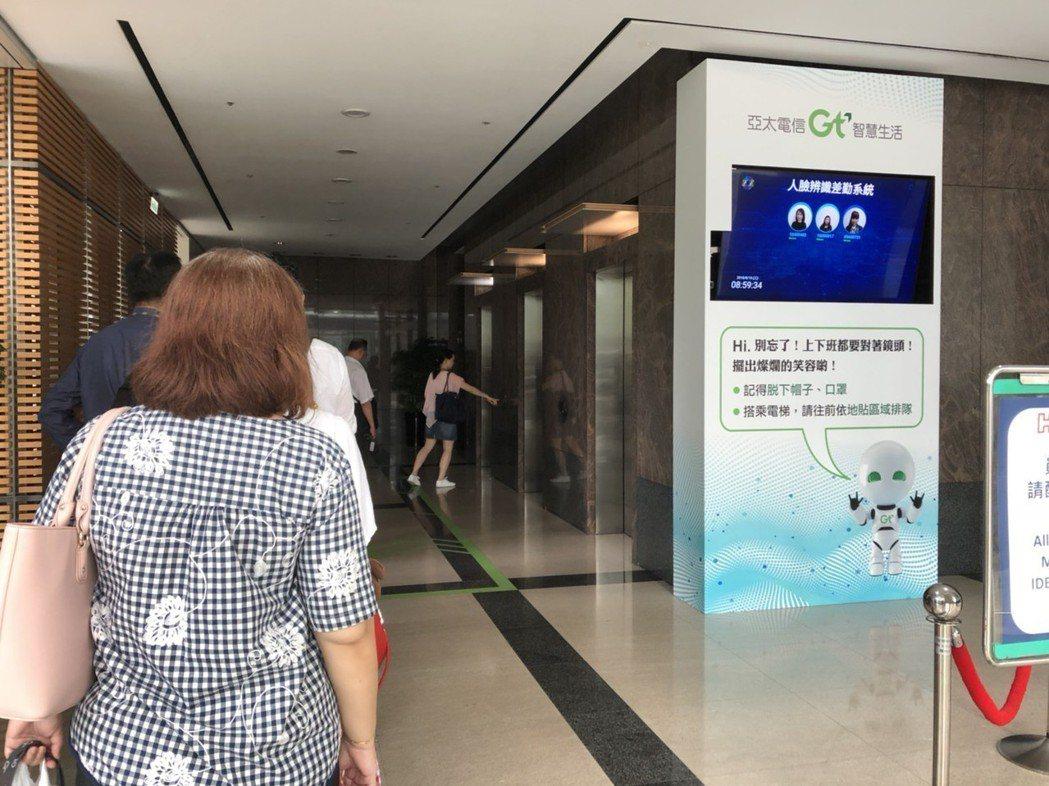鴻海集團及亞太電信差勤系統使用曠視人臉辨識技術,讓員工刷臉就可以打卡。 亞太電信...