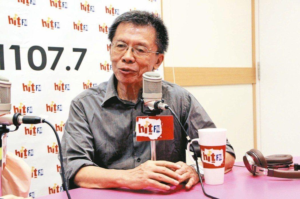 民進黨前立委沈富雄今天接受廣播節目訪問。 圖/蔻蔻早餐製作單位提供